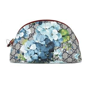 NEW LARGE GUCCI GG BLOOMS SUPREME CANVAS POUCH